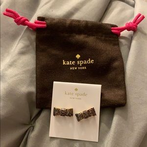 Kate Spade Sparkly Bow Earrings